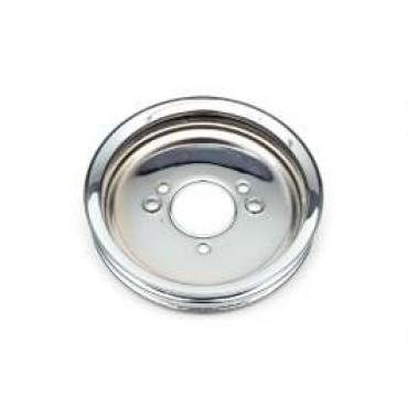 Chevelle Balancer Pulley, Chrome, Double Groove Big Block, 1965-1968