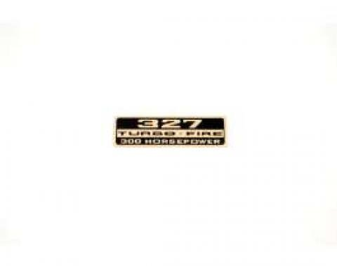 Chevelle Valve Cover Decal, 327 Turbo-Fire 300 hp, 1964-1966