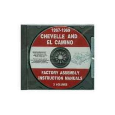 Chevelle Factory Assembly Instructions Manual, On CD, 1967- 1969