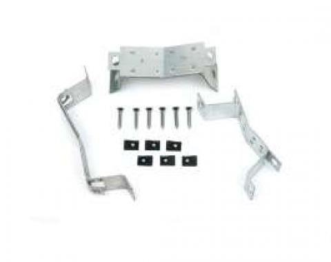 Chevelle Console Mounting Brackets, For Cars With 4-Speed Transmission, 1964-1965