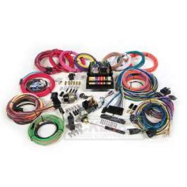 Chevelle Custom Car Wiring Harness Kit, Modular Panel, 15-Circuit, Highway 15, American Autowire, 1964-1972