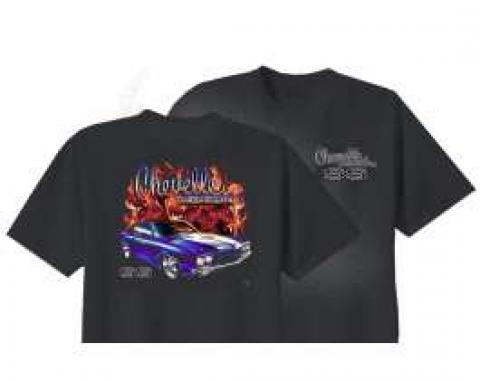 Chevelle T-Shirt, With Flames, Black