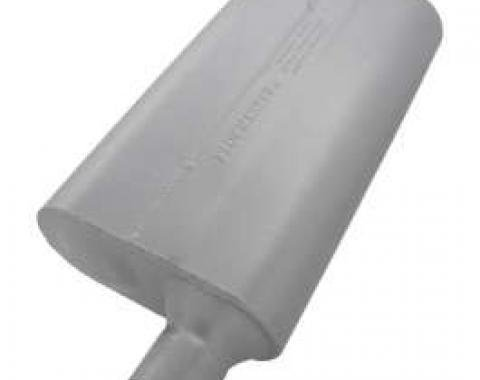 Chevelle Muffler, 2.25, Offset In/Center Out, 50 Series Delta Flow, Flowmaster, 1964-1972