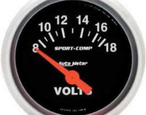 Chevelle Voltmeter, Sport-Comp Series, AutoMeter, 1964-1972