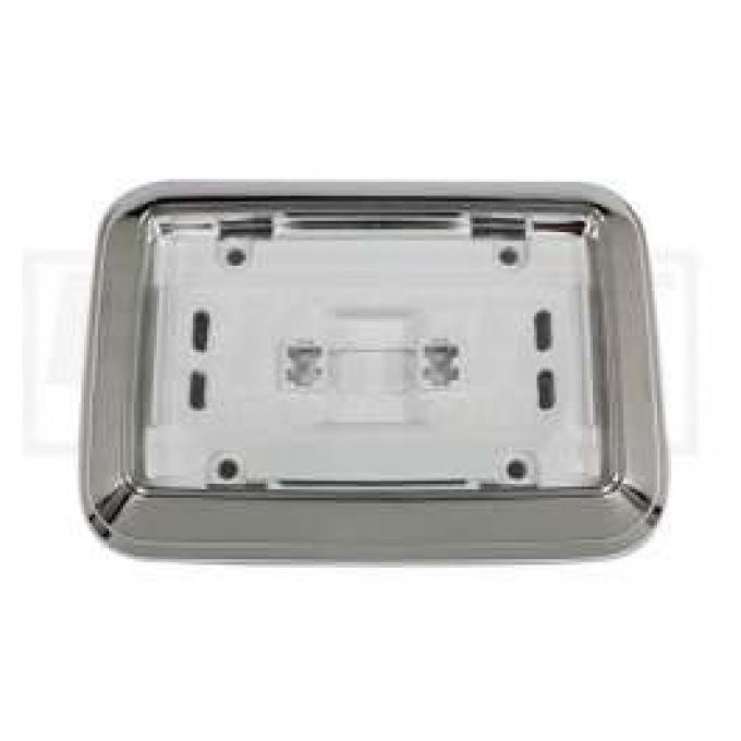 Dome Light Base, Chrome, For All Cars Except Convertible, 1968-1970