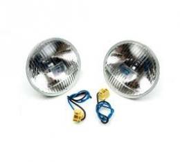 Chevelle Headlights, Halogen, H-4 Hi-Beam, 5-3/4, Xenon Bulb, 1964-1970