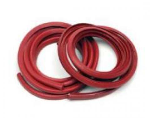 Chevelle Door Jamb Windlace, Sedan, Red, 1964-1967