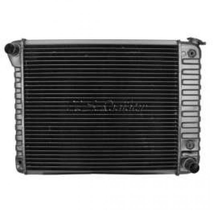 Chevelle Radiator, Small Block, 4-Row, 20 Core, For Cars With Automatic Transmission & Without Air Conditioning, Desert Cooler, U.S. Radiator, 1968-1971