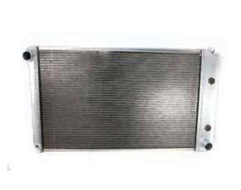 Malibu Griffin Aluminum Radiator, 2 Row With Standard Tubes, Natural Finish, With Automatic Transmission, 1978-1983