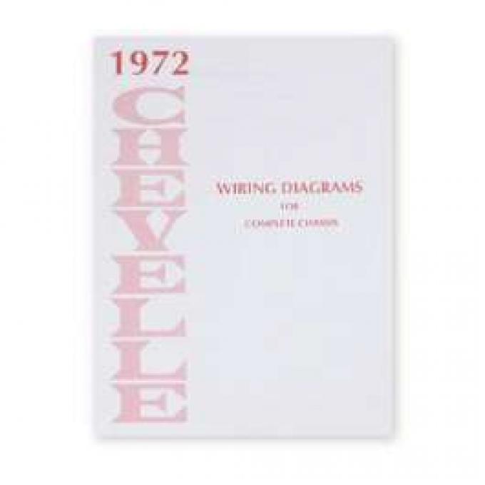 Chevelle Literature, Chevelle Wiring Diagram Manual, 1972