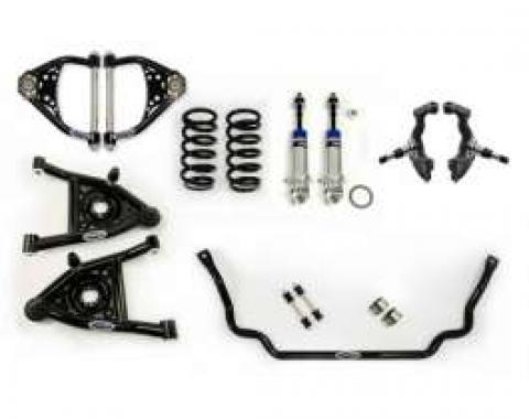 Chevelle Front Suspension, Speed Kit 2, Small Block And LS Motors, Detroit Speed (DSE), 1968-1972