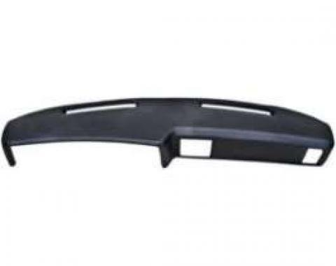 Chevelle Molded Dash Pad Outer Shell, With Air Conditioning, Black, 1973-1977