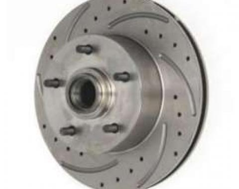 Chevelle Front Disc Brake Rotor, Drilled, Slotted & Vented, Left, 1964-1972
