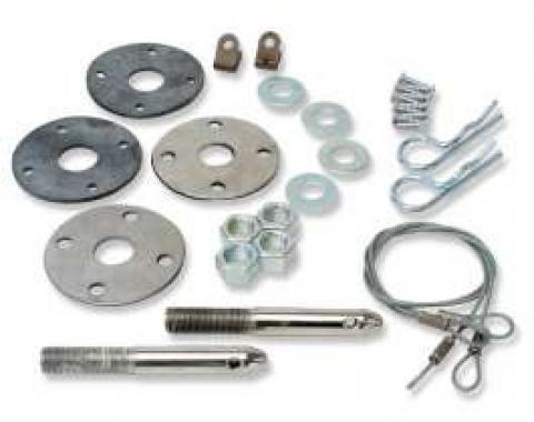 Chevelle Super Sport (SS) Hood Pin Kit, Complete, 1970-1972
