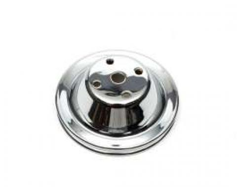 Chevelle Water Pump Pulley, Small Block, Single Groove, Chrome, 1969-1972