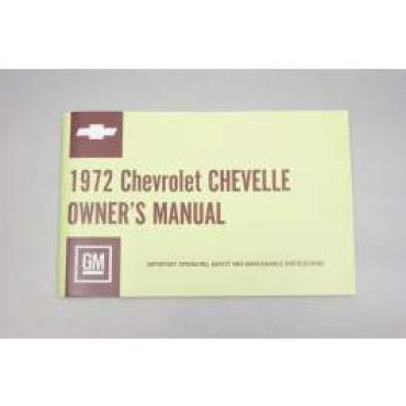 Chevelle Owner's Manual, 1972