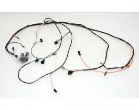 Chevelle Engine Wiring Harness, Big Block, For Cars With Warning Lights & Manual Transmission, 1972