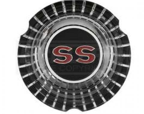 Chevelle Emblem, SS, Wheel Cover Center, 1964