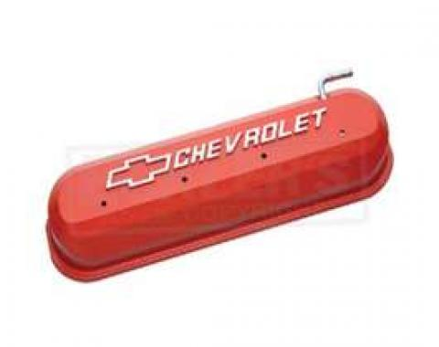 LS Series Motors, V8, Valve Cover, Orange With Raised Emble ms