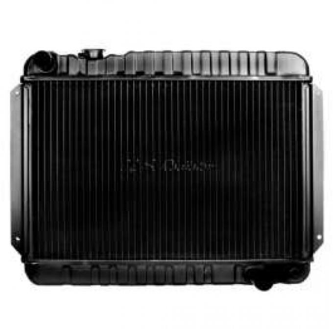 Chevelle Radiator, Big Block, 2-Row, For Cars With Manual Transmission & Without Air Conditioning, U.S. Radiator, 1966-1967