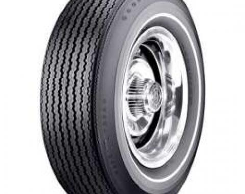 Chevelle Tire, F70/14 White Stripe, Goodyear Speedway Wide Tread Bias Ply, 1967-1968