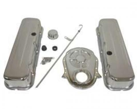 Chevelle Big Block Chrome Engine Dress Up Kit With Short Smooth Style Valve Covers