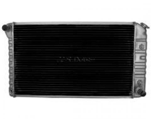 Chevelle Radiator, 250ci With Air Conditioning, 307/350ci Without Air Conditioning, 4-Row, For Cars With Automatic Transmission, Desert Cooler, U.S. Radiator, 1972