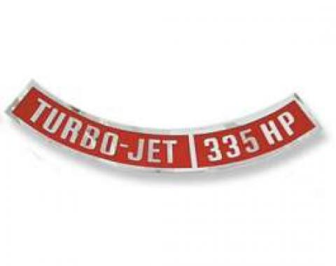 Chevelle Air Cleaner Decal, Turbo-Jet 335 hp, 1964-1972