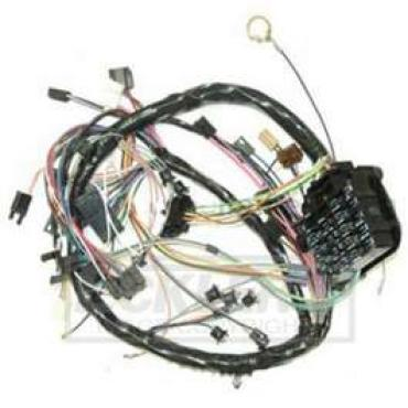 Chevelle Dash Wiring Harness, Main, For Cars With Factory Gauges & Without Air Conditioning, 1969