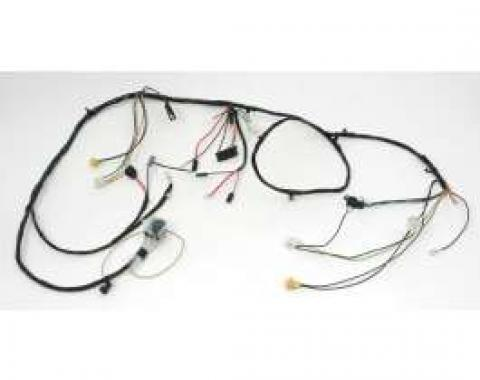 Chevelle Front Light Wiring Harness, 6 Cylinder, For Cars With Warning Lights, 1968