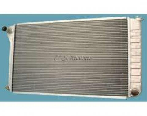 Chevelle Radiator, 28 Core, Polished Aluminum, For Cars With Automatic Transmission, U.S. Radiator, 1968-1972