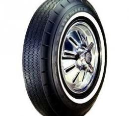 Chevelle Tire, 7.50/14 With 1 Wide Whitewall, Goodyear Custom Super Cushion Bias Ply, 1964