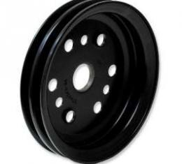 Chevelle Crankshaft Pulley, Small Block, Double Groove, Black, 1964-1968