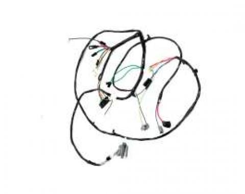 Chevelle Front Light Wiring Harness, For Cars With Warning Lights, 1967
