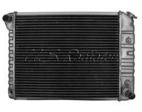 Chevelle Radiator, 250/454ci, 4-Row, For Cars With Manual Transmission & Without Air Conditioning, Desert Cooler, U.S. Radiator, 1972-1977