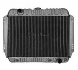 Chevelle Radiator, Small Block, 4-Row, For Cars With Manual Transmission & Without Air Conditioning, Desert Cooler, U.S. Radiator, 1966-1967