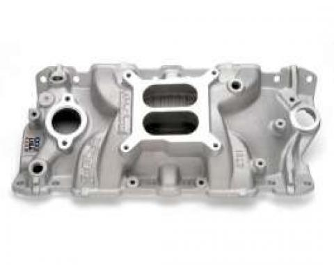 Chevelle Intake Manifold, Small Block, Cast Finish, Performer EPS, Edelbrock, 1964-1972