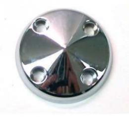 Chevelle Water Pump Pulley Nose, Polished Billed Aluminum, For Cars With Long Water Pump, 1969-1972