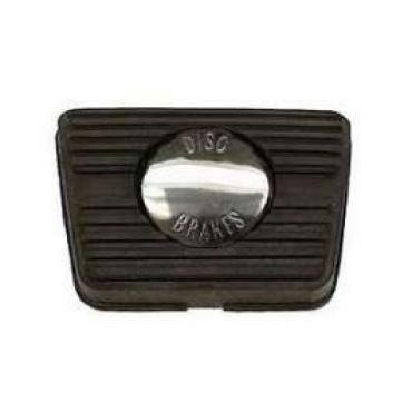Chevelle Brake Pedal Pad, For Cars With Manual Transmission & Disc Brakes, 1967-1972