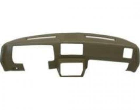 Malibu Molded Dash Pad Outer Shell, Full Cover, With Center Speaker Cut-Outs, Black, 1978-1980