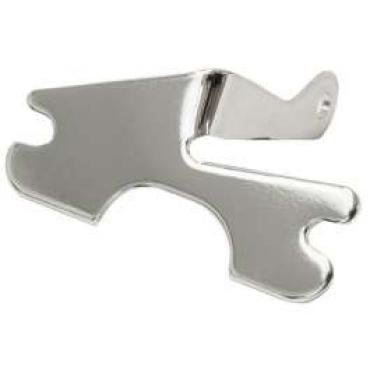 Chevelle Air Conditioning Compressor Support Bracket, Small Block, Chrome, For Cars With Exhaust Headers, 1964-1972