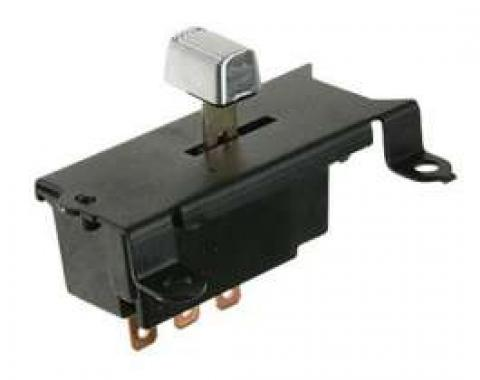 Windshield Wiper Switch, 2-Speed, For Cars With Hidden Wipers, 1969-1971
