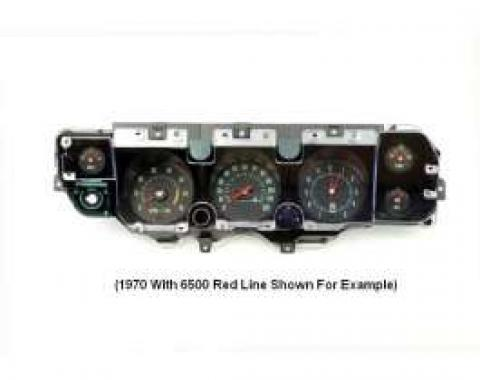 Chevelle Instrument Cluster Assembly, With 5500 RPM Redline Tachometer, Super Sport (SS), 1970