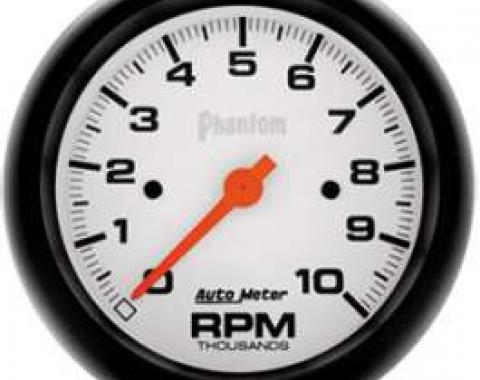 Chevelle Tachometer, In-Dash Mount, 10,000 RPM, Phantom Series, AutoMeter, 1964-1972