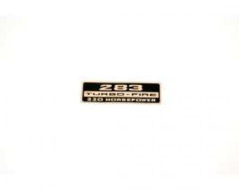 Chevelle Valve Cover Decal, 283 Turbo-Fire 220 hp, 1965-1966