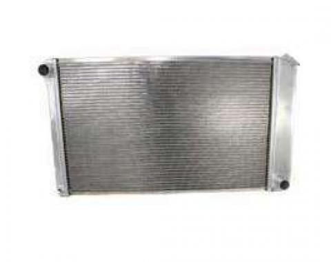 Malibu Griffin Aluminum Radiator, 2 Row With Standard Tubes, Natural Finish, With Manual Transmission, 1978-1983