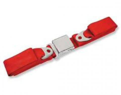 """Seatbelt Solutions 1964-1966 Chevelle, Front Lap Belt, 60"""" with Chrome Lift Latch 1800602006 