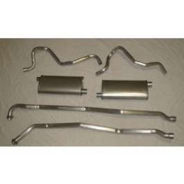 Chevelle Exhaust, Dual, Without Resonators, V8, Stainless Steel, 1964-1972