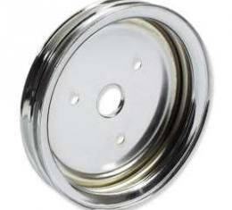 Chevelle Crankshaft Pulley, Small Block, Double Groove, Chrome, 1964-1968