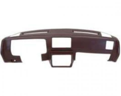 Malibu Molded Dash Pad Outer Shell, Full Cover, With Outside Speaker Cut-Outs, Black, 1978-1980